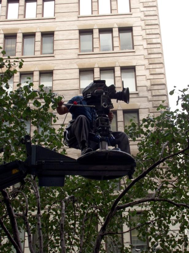 Movie camera man