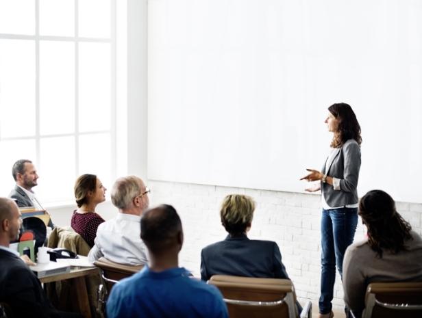 presentation with blank slide